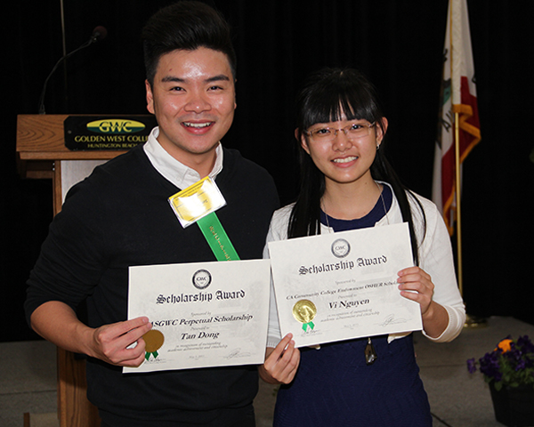 two scholarship recipients